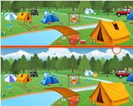 Camping spot the difference 3D j�t�kok j�t�kok ingyen