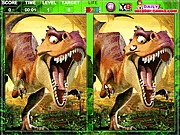 Ice Age dinosaurs spott the difference online játék