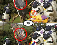 shaun the sheep spot the difference online játék